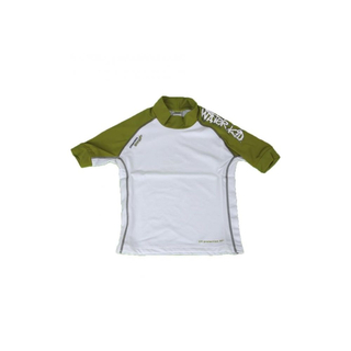 WATER KID UV-Shirt Camaro Kurzarm green/white 140