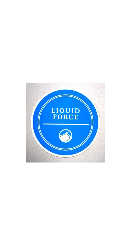 Liquid Force Wakeboard RIVERA Sticker Liquid Force 10cm blue LF2155616