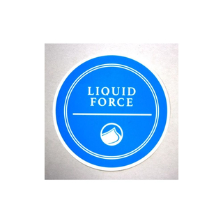 RIVERA Sticker Liquid Force 10cm blue