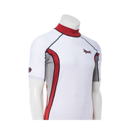 UV-SHIRT Ascan Kurzarm Men white/red M 50