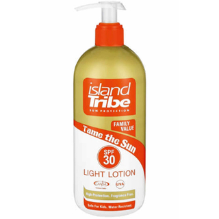 (100ml = 6.65EUR) Sun Protection Lotion Dispenser Island Tribe SPF 30 / 450ml