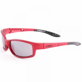 STYLER BASIC Sportbrille JC-Optics Sonnenbrille matt aluminium red