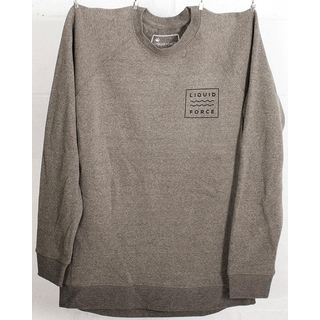 BUMPS CREW NECK Pullover Liquid Force heather grey