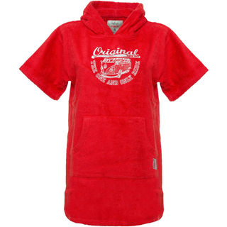 VanOne Classic Cars Original Ride VW Bulli Kids Poncho red/white