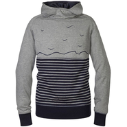 Schwerelosigkite Seeland Sweat Hoody Women grey blue stripes