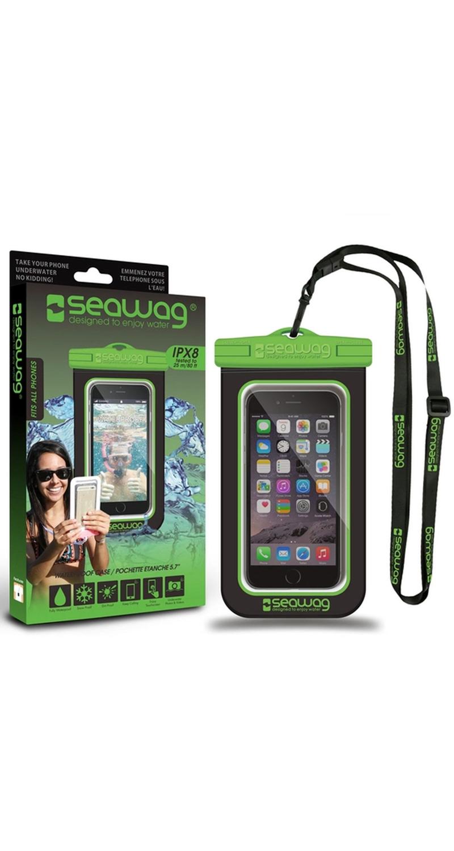 "Seawag Wasserdichte Handyhülle 5.7"" black/green SEAWAG_B4X"