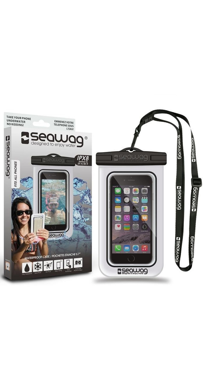 """Seawag Wasserdichte Handyhülle 5.7"""" white/black SEAWAG_W1X"""