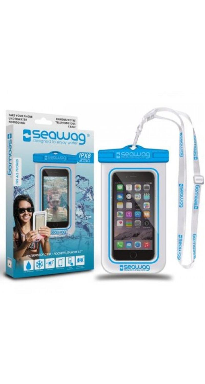 """Seawag Wasserdichte Handyhülle 5.7"""" white/blue SEAWAG_W2X"""