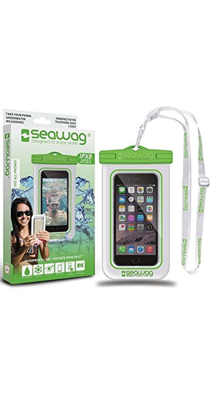 """Seawag Wasserdichte Handyhülle 5.7"""" white/green SEAWAG_W4X"""