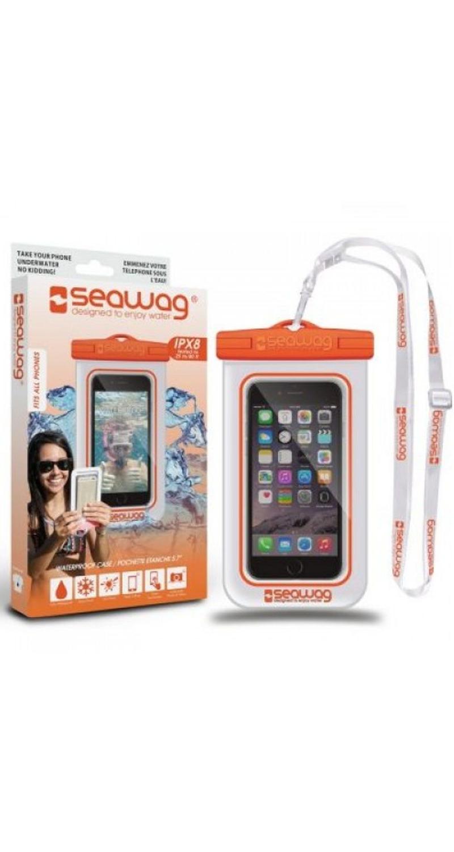 """Seawag Wasserdichte Handyhülle 5.7"""" white/orange SEAWAG_W5X"""