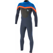 Prolimit Fusion Fullsuit 4/3mm slateblack/blue/orange