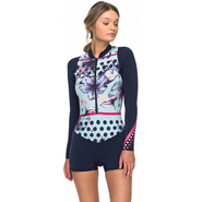 Roxy Pop Surf Shorty Front-Zip Langarm 2mm navy