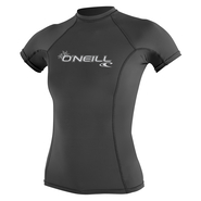 ONEILL Wms Basic Skins S/S Rash Guard Graphite L