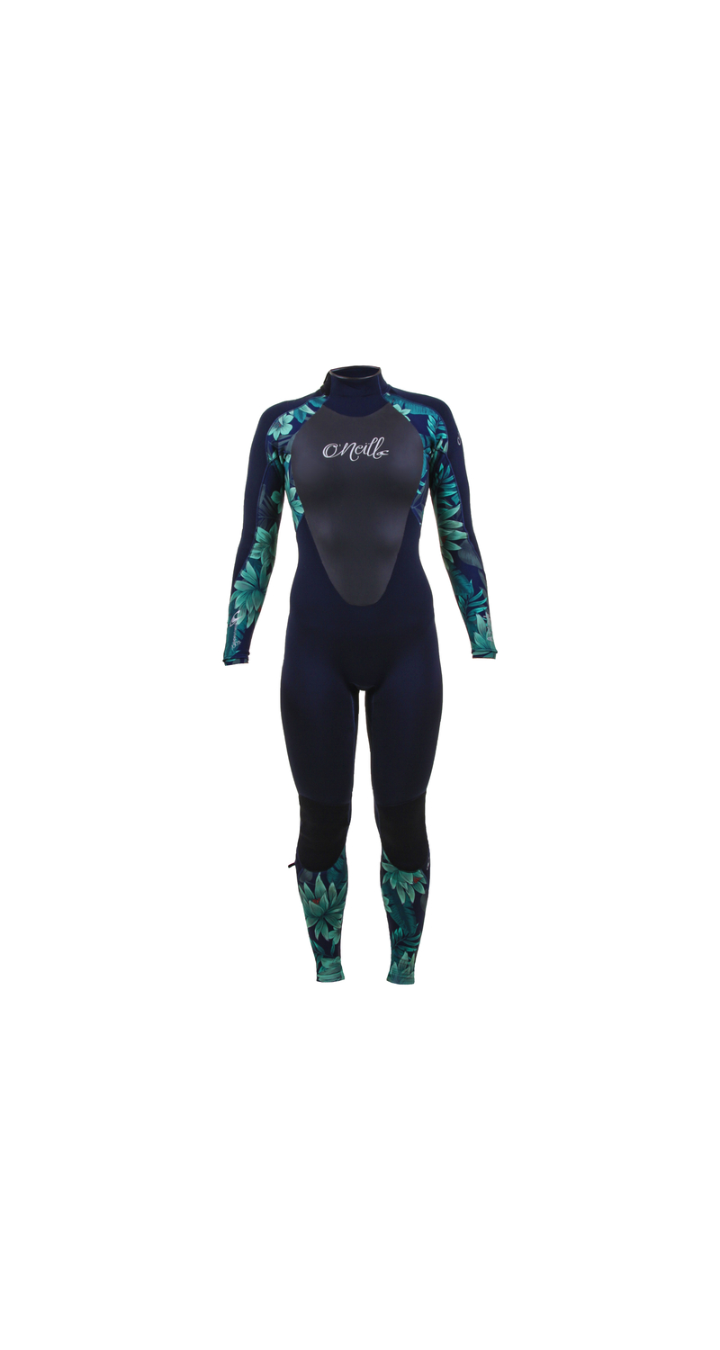 O'NEILL Wms Epic 5/4 Back Zip Full Abyss/Faro/Abyss 8 4218