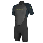 ONEILL Youth Reactor-2 2mm Back Zip S/S Spring Blk/Slate 8