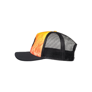 Quiksilver Bright Learnings Trucker Cap neon tiger