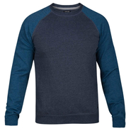 Hurley Crone Crew Pullover obsidian heather S 48