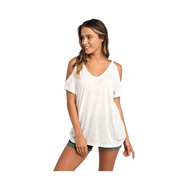 Rip Curl Salty Cold Shoulder T-Shirt white S 36