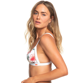 Roxy Dreaming Day Triangel Bikini Oberteil bright white tropical XS 34