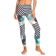 Roxy Pop Surf Leggings true black crazy victory popsurf