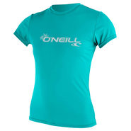 ONEILL Wms Basic Skins S/S Sun Shirt Light Aqua M 38