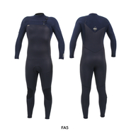 ONEILL Hyperfreak 4/3+ Chest Zip Full Blk/Abyss