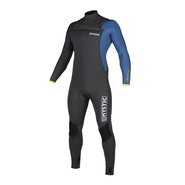 MYSTIC Majestic Fullsuit 3/2mm Fzip Grey Blue